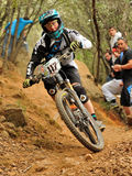 Mountain biker Joseph Rosara - Enduro racer Royalty Free Stock Photo