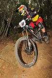 Mountain biker  Laughland Scott - Enduro racer Stock Photography