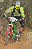 Mountain biker Matteo Raimondi - Enduro racer Stock Images