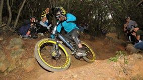 Mountain biker Nicoli Jamie - Enduro racer Stock Image