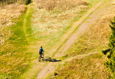 Mountain Biker Off-Road Stock Photo