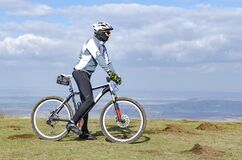 Free Mountain Biker On The Hills Stock Image - 215038191