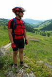 Mountain biker outdoor Royalty Free Stock Photos