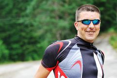 Mountain biker portrait Royalty Free Stock Photo