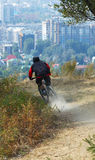 Mountain biker on race Royalty Free Stock Image