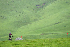 Mountain biker on race Royalty Free Stock Photography