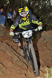Mountain biker Remi Absalon -  Enduro racer Royalty Free Stock Photo