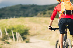 Mountain biker riding MTB Royalty Free Stock Image