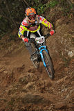 Mountain biker Stefano Rota  - Enduro racer Royalty Free Stock Photo