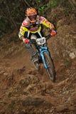 Mountain biker Stefano Rota  - Enduro racer Royalty Free Stock Photo