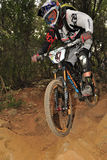 Mountain biker  Steve Peat - Enduro racer Royalty Free Stock Photos