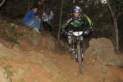 Mountain biker Willdhaber Rene - Enduro racer Stock Photo