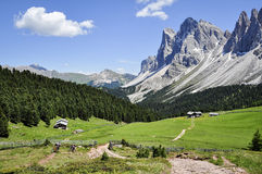 Mountain bikers, Dolomite Mountains Stock Photo