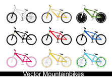 Mountain bikes. With different colours Stock Image