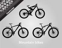 Mountain bikes. All the components are assembled Royalty Free Stock Photo
