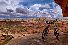 Mountain Bikes in Canyonlands Royalty Free Stock Image