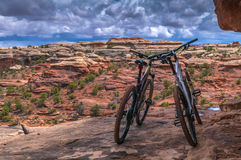 Mountain Bikes in Canyonlands Stock Image