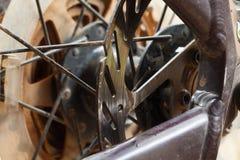 Mountain bikes disk brakes Stock Photography