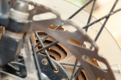 Mountain bikes disk brakes. Detail Royalty Free Stock Image