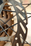 Mountain bikes disk brakes. Detail Royalty Free Stock Photography