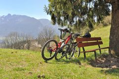 Mountain bikes Stock Images