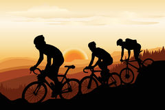 Mountain biking stock illustration