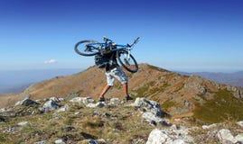 Mountain biking Royalty Free Stock Photo