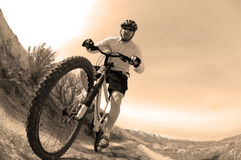 Mountain Biking Stock Image