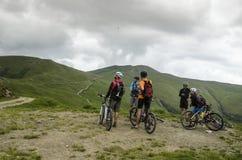 Mountain biking Stock Photography