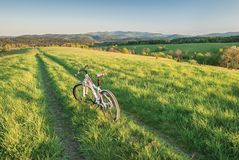 Mountain biking in Bieszczady Royalty Free Stock Image