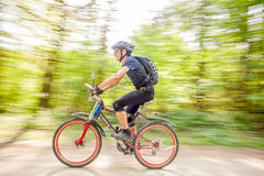Mountain biking. Mountain bike contest near Bacau, Eastern Romania, May of 2013 Stock Images