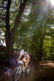Mountain biking Stock Image