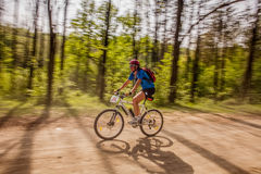 Mountain biking. Mountain bike contest near Bacau, Eastern Romania, May of 2013 Stock Image