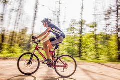 Mountain biking Royalty Free Stock Image
