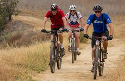 Mountain Biking in Chino Hills State Park stock photo