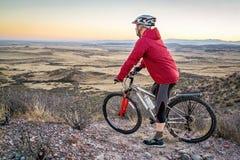 Mountain biking in Colorado foothills Stock Image