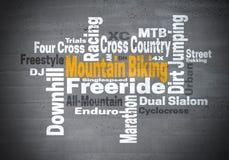 Mountain Biking Freeride Downhill word cloud concept Stock Image