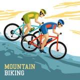 Mountain Biking Illustration Royalty Free Stock Image