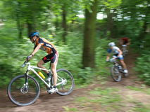 Mountain biking, Lublin, Poland Stock Image