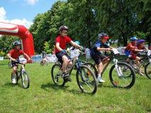 Mountain biking, Lublin, Poland Royalty Free Stock Images