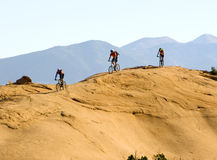 Mountain biking in the mountains Royalty Free Stock Image