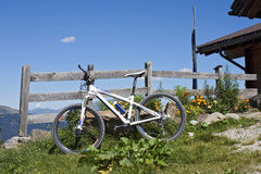 Mountain Biking in South Tyrol Royalty Free Stock Image