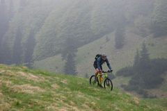 Mountain biking spring Royalty Free Stock Photo