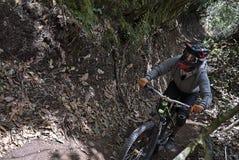 Mountain biking training in Pasto Colombia stock image