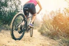 Mountain biking Stock Photos