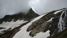 Mountain Black Pyramid and waterfall Bear stock video
