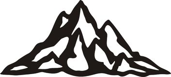 Mountain. Black and white mountain illustration vector illustration