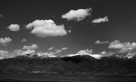 Mountain Black and White Royalty Free Stock Images