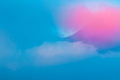Mountain in blue clouds sunset  landscape Stock Photography