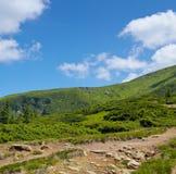 Mountain  and blue sky Royalty Free Stock Photos